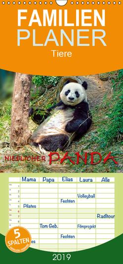 Niedlicher Panda – Familienplaner hoch (Wandkalender 2019 , 21 cm x 45 cm, hoch) von Roder,  Peter