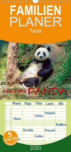 Niedlicher Panda – Familienplaner hoch (Wandkalender 2020 , 21 cm x 45 cm, hoch) von Roder,  Peter