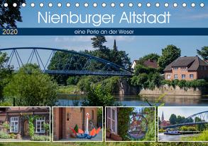 Nienburger Altstadt, eine Perle an der Weser (Tischkalender 2020 DIN A5 quer) von Riedel,  Tanja
