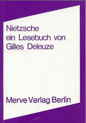 Nietzsche von Deleuze,  Gilles, Voullié,  Ronald
