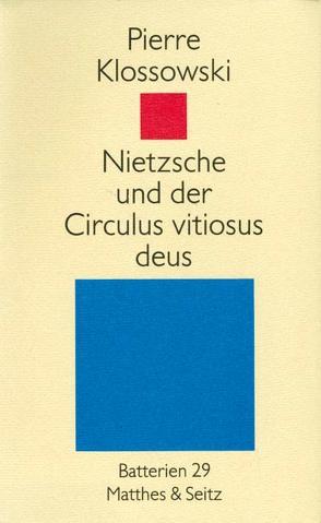 Nietzsche von Klossowski,  Pierre, Vouillé,  Ronald