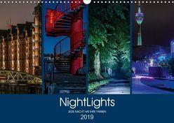 NightLights (Wandkalender 2019 DIN A3 quer) von Muß,  Jürgen