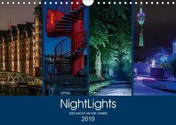 NightLights (Wandkalender 2019 DIN A4 quer) von Muß,  Jürgen
