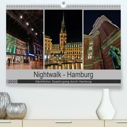 Nightwalk – Hamburg (Premium, hochwertiger DIN A2 Wandkalender 2020, Kunstdruck in Hochglanz) von Hennrich,  Peter