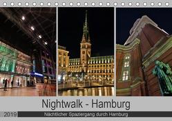Nightwalk – Hamburg (Tischkalender 2019 DIN A5 quer) von Hennrich,  Peter