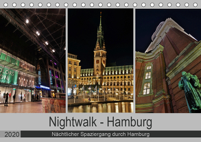 Nightwalk – Hamburg (Tischkalender 2020 DIN A5 quer) von Hennrich,  Peter