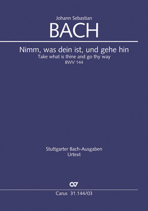 Nimm, was dein ist, und gehe hin (Klavierauszug) von Bach,  Johann Sebastian