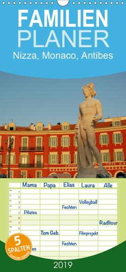 Nizza, Monaco, Antibes – Familienplaner hoch (Wandkalender 2019 , 21 cm x 45 cm, hoch) von Falk,  Dietmar