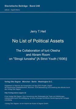 No List of Political Assets von Heil,  Jerry T.