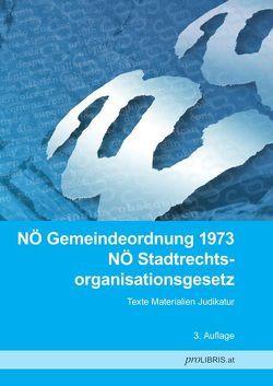 NÖ Gemeindeordnung 1973 / NÖ Stadtrechtsorganisationsgesetz von proLIBRIS VerlagsgesmbH