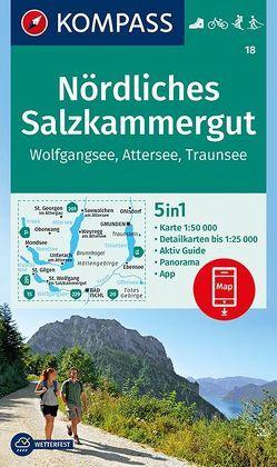 Nördliches Salzkammergut, Wolfgangsee, Attersee, Traunsee von KOMPASS-Karten GmbH