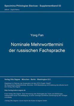 Nominale Mehrworttermini der russischen Fachsprache von Fan,  Yong