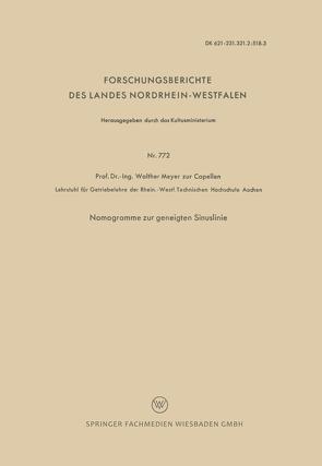 Nomogramme zur geneigten Sinuslinie von Meyer zur Capellen,  Walther