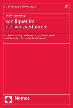 Non liquet im Insolvenzverfahren von Wüstenberg,  Timm