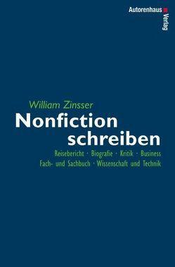 Nonfiction schreiben von Zinsser,  William