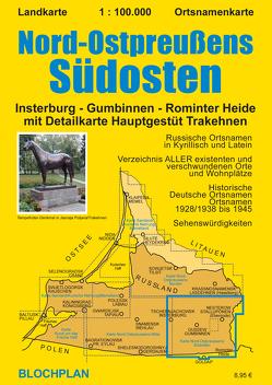 Landkarte Nord-Ostpreußens Südosten, 1:100.000 von Bloch,  Dirk