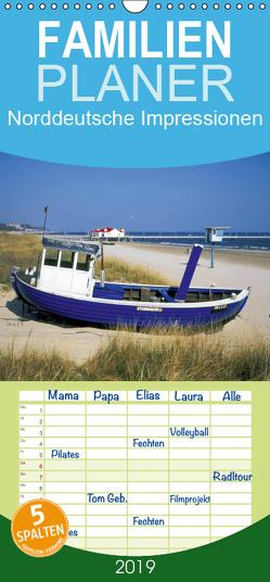 Norddeutsche Impressionen – Familienplaner hoch (Wandkalender 2019 , 21 cm x 45 cm, hoch) von Reupert,  Bildarchiv
