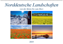 Norddeutsche Landschaften (Wandkalender 2019 DIN A2 quer) von Hasche,  Joachim