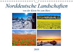 Norddeutsche Landschaften (Wandkalender 2019 DIN A4 quer) von Hasche,  Joachim