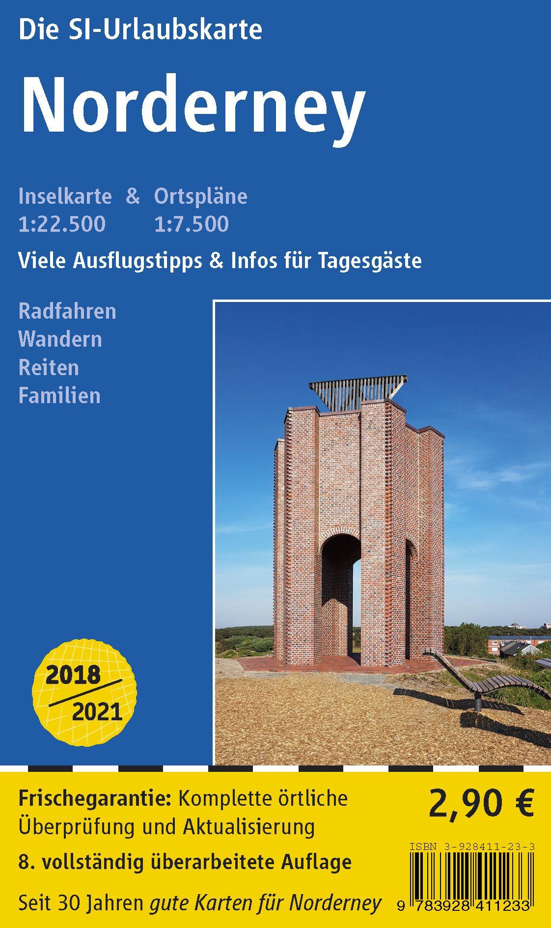 Norderney Karte Straßen.Insel Norderney Von Si Verlag Ohg Fahrrad Wander Und Reitwegekarte