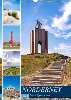 Norderney Inselportrait (Wandkalender 2021 DIN A3 hoch) von Dreegmeyer,  Andrea