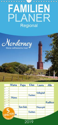 Norderney. Meine ostfriesische Insel – Familienplaner hoch (Wandkalender 2019 , 21 cm x 45 cm, hoch) von Dreegmeyer,  Andrea