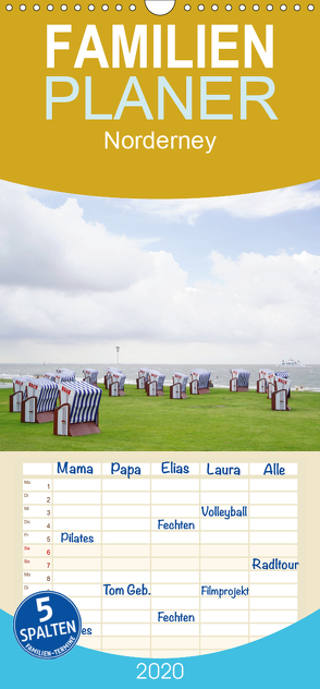 Norderney – von barfuß bis Lackschuh – Familienplaner hoch (Wandkalender 2020 , 21 cm x 45 cm, hoch) von Weber,  Philipp