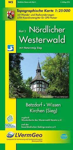 Nördlicher Westerwald, Blatt 3, Betzdorf, Wissen, Kirchen (Sieg), (WR) von Landesamt für Vermessung und Geobasisinformation Rheinland-Pfalz