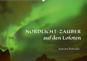 Nordlicht-Zauber auf den Lofoten. Aurora borealisCH-Version (Wandkalender 2021 DIN A2 quer) von GUGIGEI