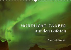 Nordlicht-Zauber auf den Lofoten. Aurora borealisCH-Version (Wandkalender 2021 DIN A3 quer) von GUGIGEI