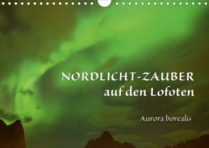 Nordlicht-Zauber auf den Lofoten. Aurora borealisCH-Version (Wandkalender 2021 DIN A4 quer) von GUGIGEI