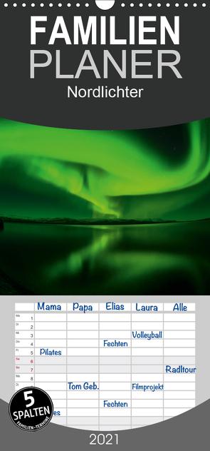 Nordlichter – Familienplaner hoch (Wandkalender 2021 , 21 cm x 45 cm, hoch) von Streu,  Gunar