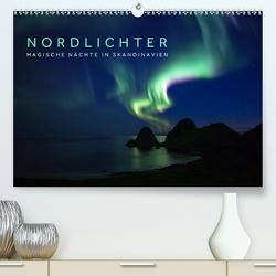Nordlichter – Magische Nächte in Skandinavien (Premium, hochwertiger DIN A2 Wandkalender 2021, Kunstdruck in Hochglanz) von Jackson,  Lain
