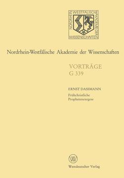 Nordrhein-Westfälische Akademie der Wissenschaften von Dassmann,  Ernst
