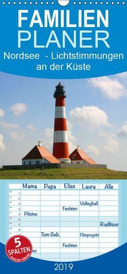 Nordsee – Lichtstimmungen an der Küste – Familienplaner hoch (Wandkalender 2019 , 21 cm x 45 cm, hoch) von Verena Scholze,  Fotodesign