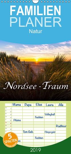Nordsee – Traum – Familienplaner hoch (Wandkalender 2019 <strong>21 cm x 45 cm</strong> hoch) von Dreegmeyer,  Andrea