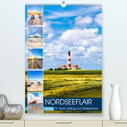 NORDSEEFLAIR – St. Peter Ording und Westerhever (Premium, hochwertiger DIN A2 Wandkalender 2020, Kunstdruck in Hochglanz) von Dreegmeyer,  Andrea