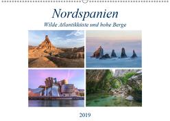 Nordspanien, wilde Atlantikküste und hohe Berge (Wandkalender 2019 DIN A2 quer) von Kruse,  Joana