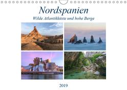 Nordspanien, wilde Atlantikküste und hohe Berge (Wandkalender 2019 DIN A4 quer) von Kruse,  Joana