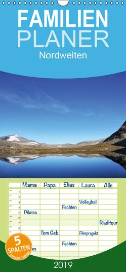 Nordwelten – Familienplaner hoch (Wandkalender 2019 , 21 cm x 45 cm, hoch) von Limberg,  Thomas