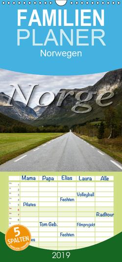 Norge – Familienplaner hoch (Wandkalender 2019 , 21 cm x 45 cm, hoch) von Rosin,  Dirk