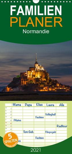 Normandie – Familienplaner hoch (Wandkalender 2021 , 21 cm x 45 cm, hoch) von Gräbner,  Holger