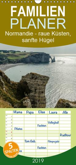 Normandie – raue Küsten, sanfte Hügel – Familienplaner hoch (Wandkalender 2019 , 21 cm x 45 cm, hoch) von Blome,  Dietmar