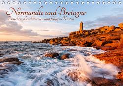 Normandie und Bretagne: Zwischen Leuchttürmen und felsigen Küsten (Tischkalender 2021 DIN A5 quer) von Aust,  Gerhard