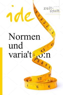 Normen und Variation von ide - informationen zur deutschdidaktik 1/2018