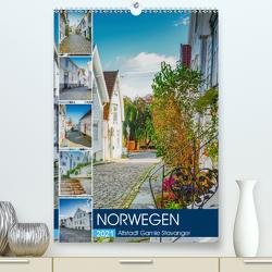 Norwegen – Altstadt Gamle Stavanger (Premium, hochwertiger DIN A2 Wandkalender 2021, Kunstdruck in Hochglanz) von Meutzner,  Dirk