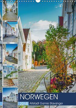 Norwegen – Altstadt Gamle Stavanger (Wandkalender 2018 DIN A3 hoch) von Meutzner,  Dirk