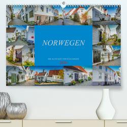 Norwegen – Die Altstadt von Stavanger (Premium, hochwertiger DIN A2 Wandkalender 2020, Kunstdruck in Hochglanz) von Meutzner,  Dirk
