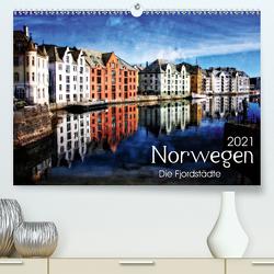 Norwegen – Die Fjordstädte (Premium, hochwertiger DIN A2 Wandkalender 2021, Kunstdruck in Hochglanz) von Silberstein,  Reiner