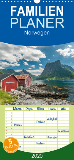 Norwegen – Familienplaner hoch (Wandkalender 2020 , 21 cm x 45 cm, hoch) von Burri,  Roman